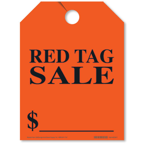 Red Tag Sale Mirror Tags