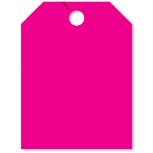 Blank Pink Fluorescent Rear View Mirror Tags
