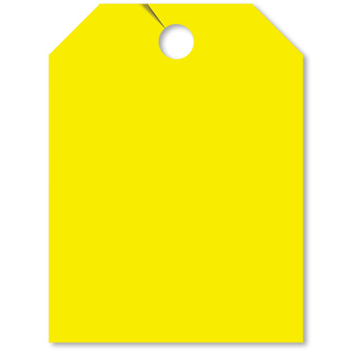 Blank Rear View Mirror Tags - Fluorescent Yellow