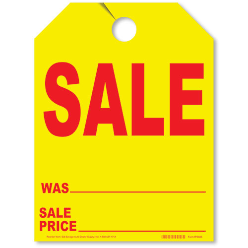 SALE Fluorescent Yellow Mirror Tag