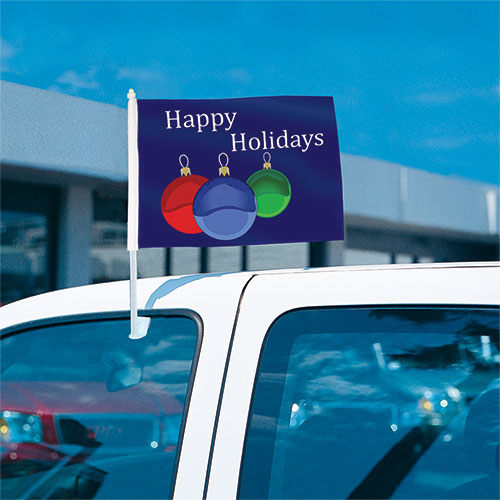 Happy Holidays Clip-On Flag
