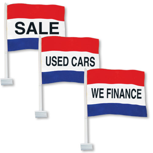 Red White And Blue Auto Sales >> Red White Blue Message Clip On Flags Auto Dealer Flags