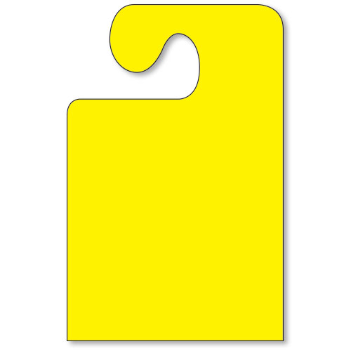 Wide Hook Mirror Tags - Fluorescent Yellow