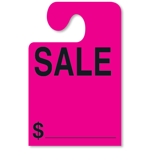 SALE Mirror Tags with Hook - Fluorescent Pink