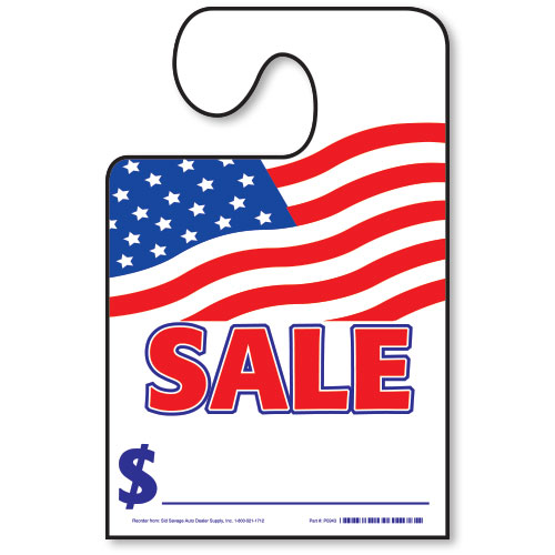 Hook Mirror Tag - SALE with American Flag