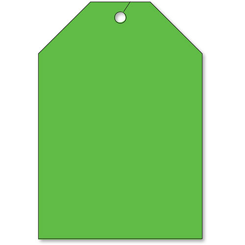 Jumbo Rear View Mirror Tags - Fluorescent Green