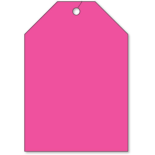 Rear View Mirror Tags - Jumbo Fluorescent Pink