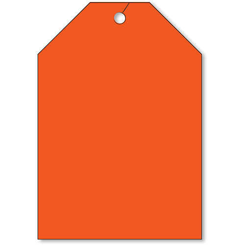 Rear View Mirror Tags - Jumbo Fluorescent Red