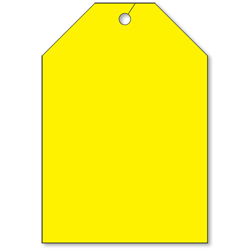 Jumbo Rear View Mirror Tags - Fluorescent Yellow