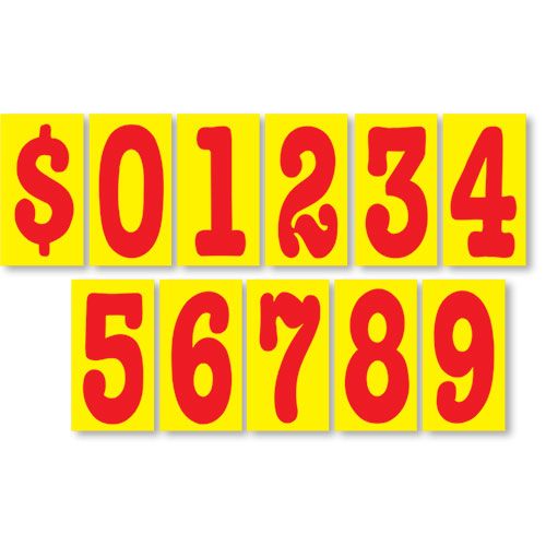 Red Hot 5 1/2 inch Pricing Number Kit