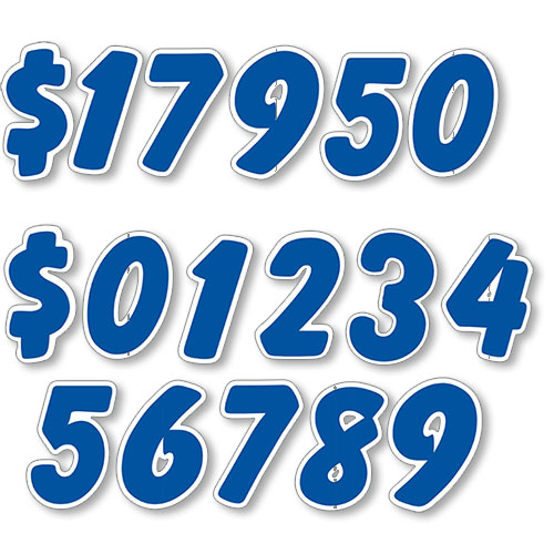 Blue Designer Cut Peel and Stick Numbers
