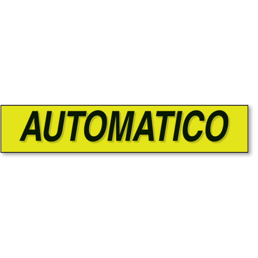 Automatico - Black and Chartreuse Windshield Slogans
