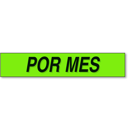 Por Mes - Black and Chartreuse Windshield Slogans