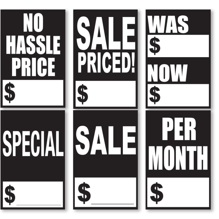 Black and White Quick Sale Stickers