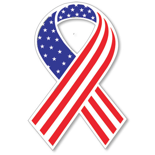 USA Ribbon Sticker