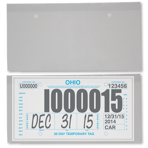 Temporary License Plate Protectors
