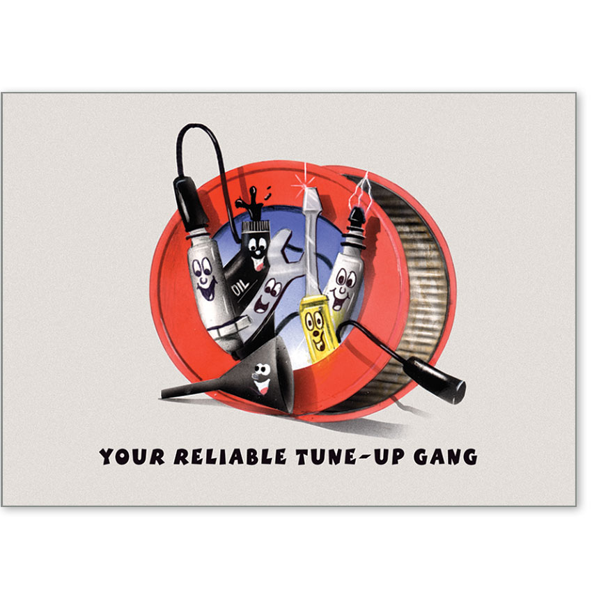 Automotive Postcard Response - Your Reliable Tune-Up Gang