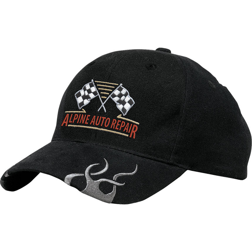 P/A Cap Racing with Flames