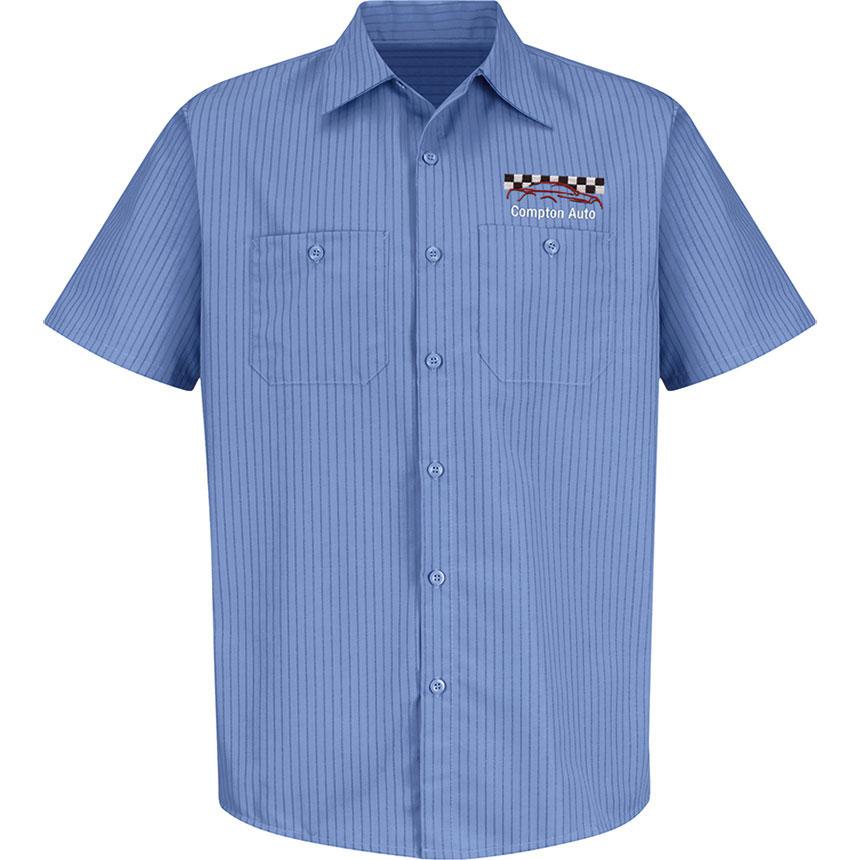 RedKap Work Shirt SS Industrial w/Stripes