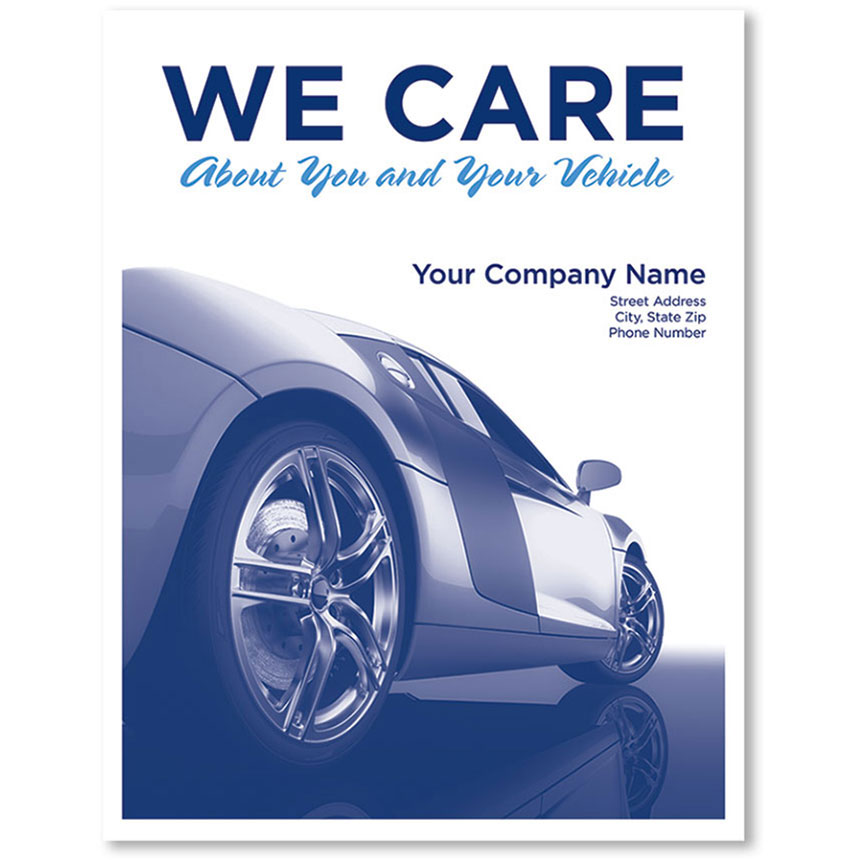 Personalized Large Vertical Floormat - We Care