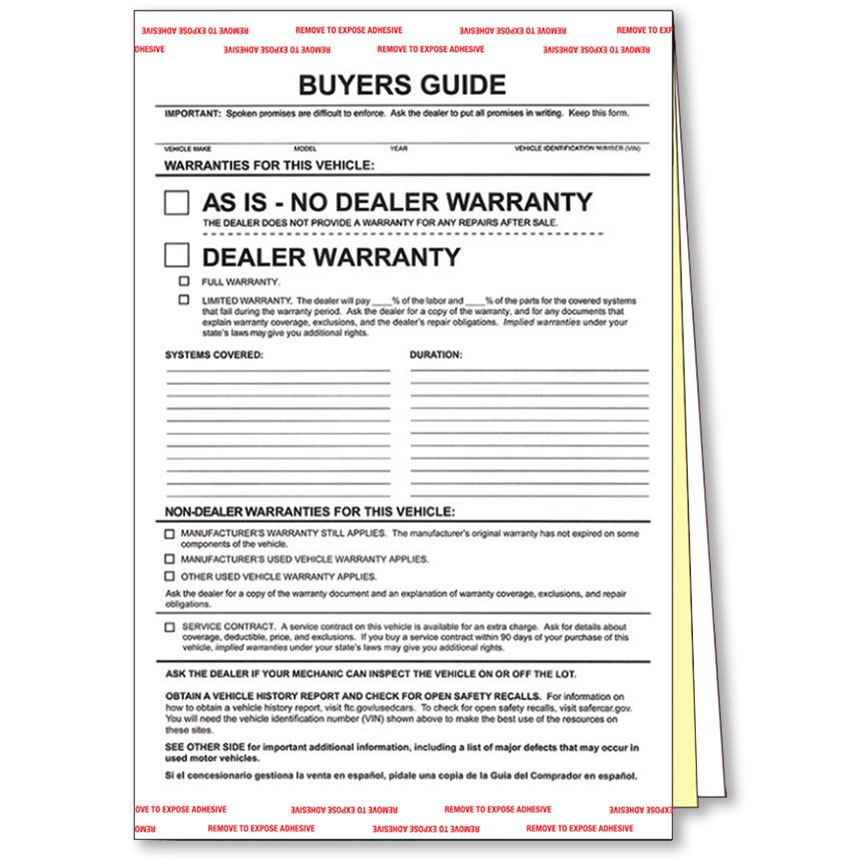 3-Part Carbonless Standard Buyers Guides