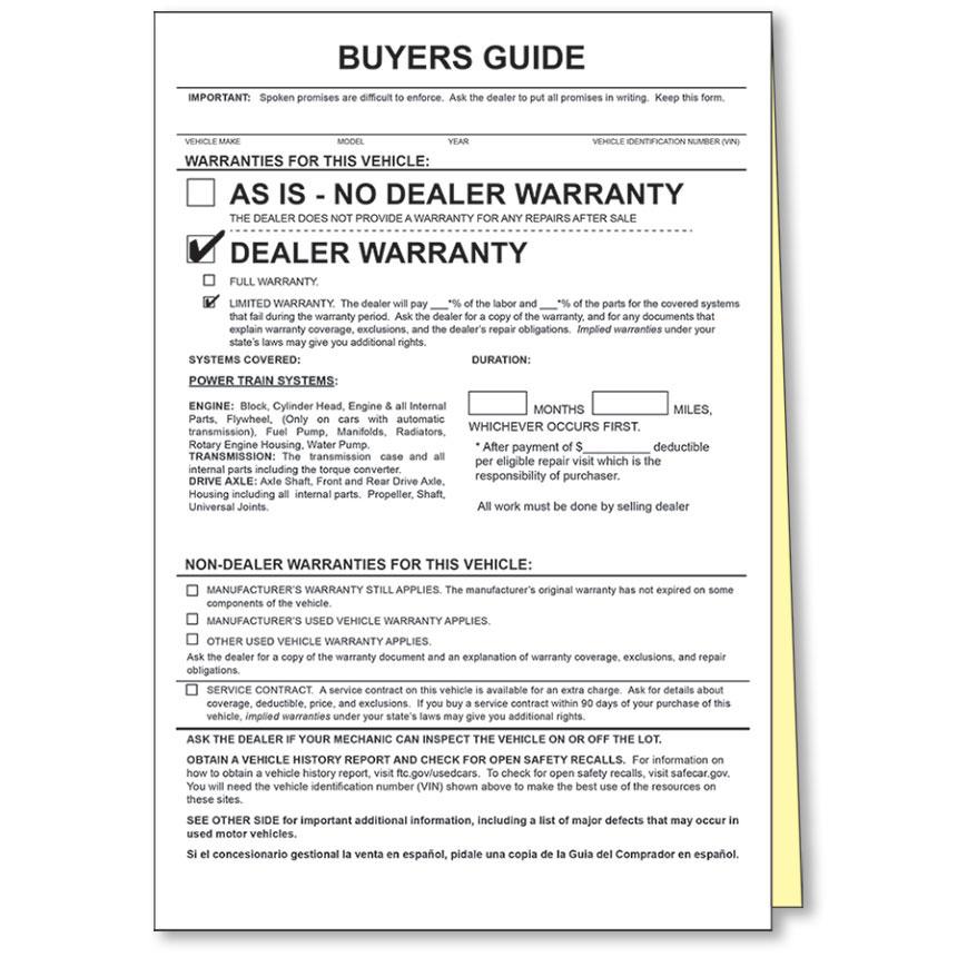 2-Part Power Train Warranty Buyers Guides