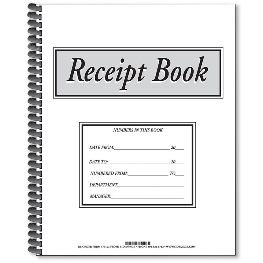 Auto Dealership Receipt Book