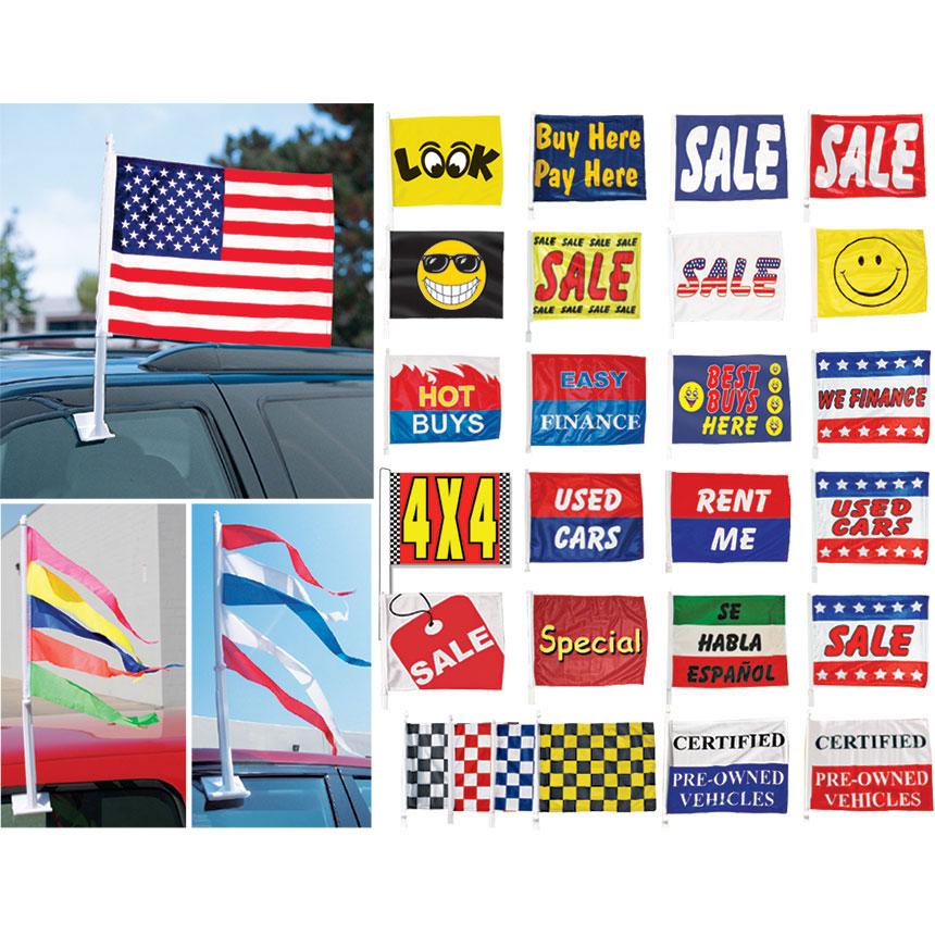 Dealer Window Clip-On Flags