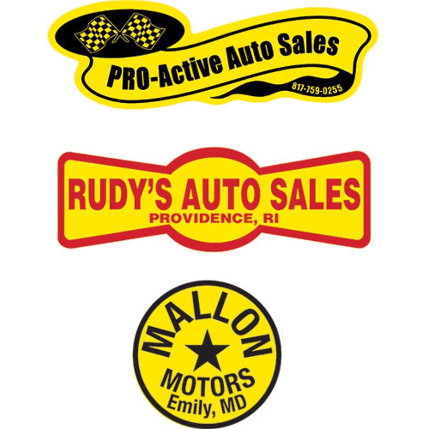 Personalized Yellow Vinyl Standard Decals