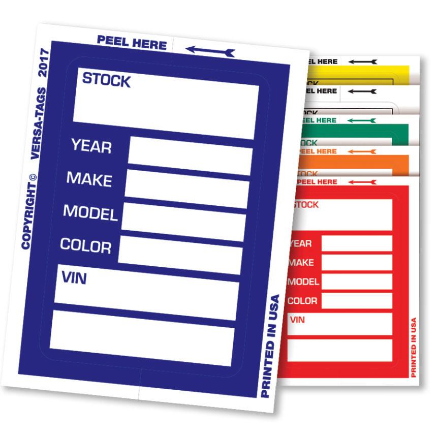 New Clear Back Stock Sticker Tickets