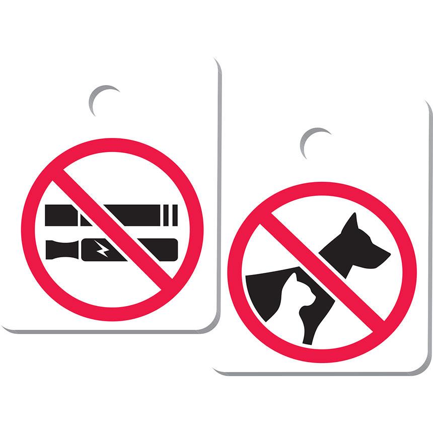 No Smoking/ No Pets Key Tag Add-ons