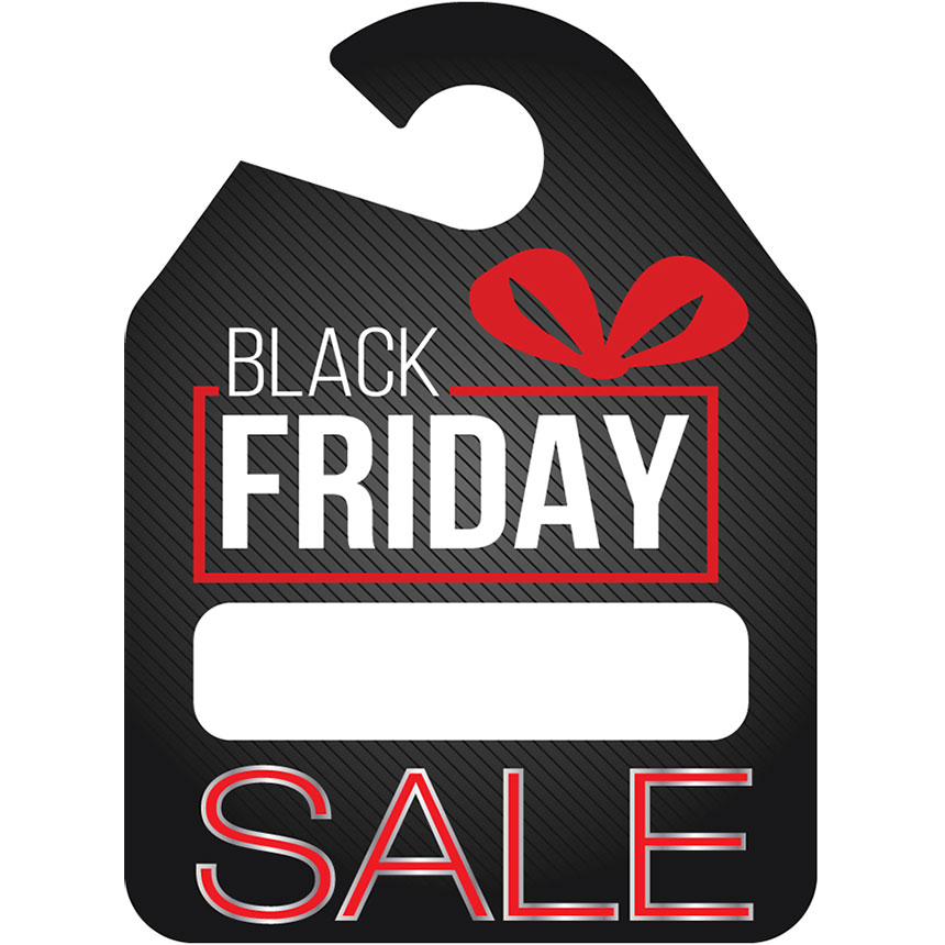 Special Event Mirror Tag - Black Friday 9in x 12in