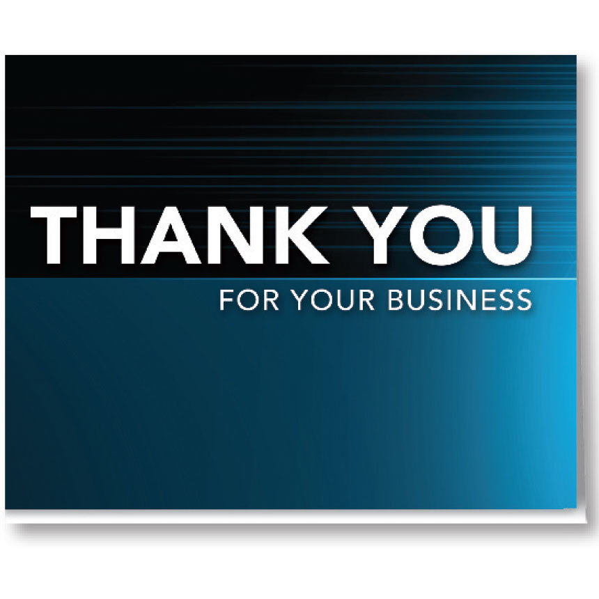 Thank you Card-Gradient Blue (100)