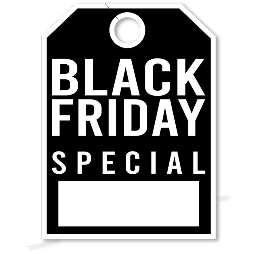 Black Friday Special Mirror Hang Tag - 8.5 x 11.5 inch