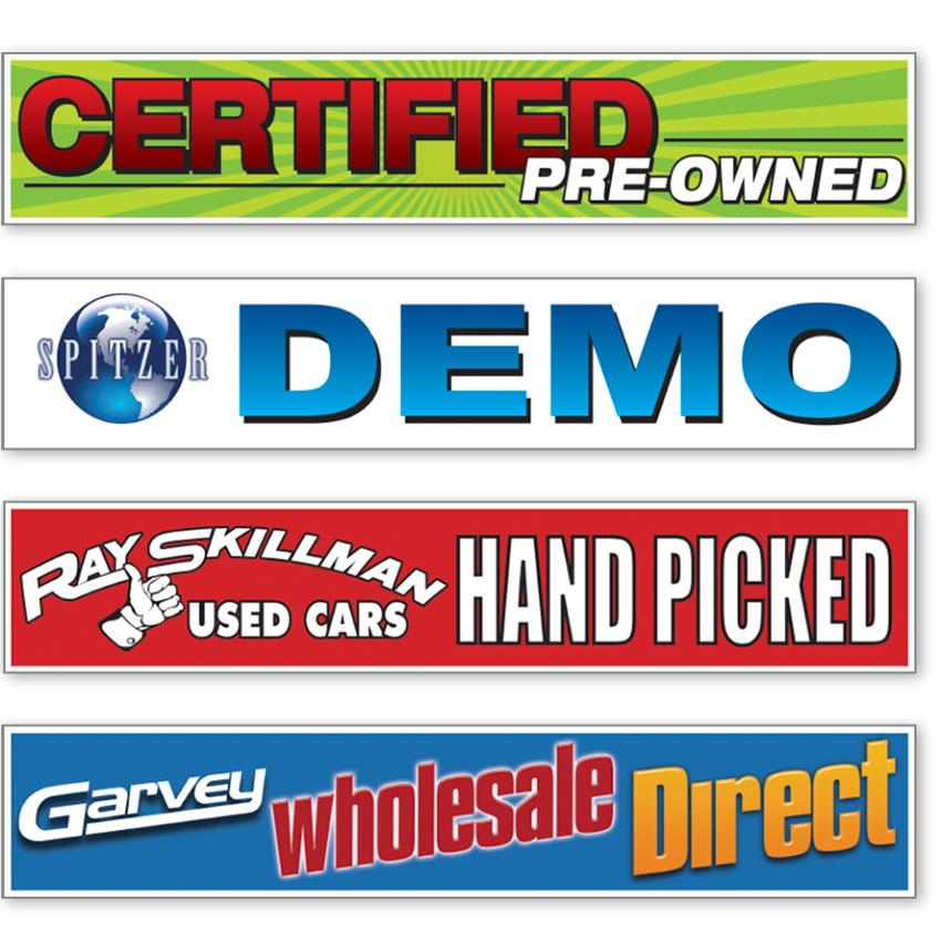 Custom Rectangle Slogan Stickers