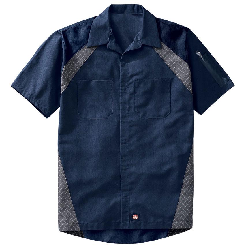 Redkap Work Shirt SS Diamond Plate
