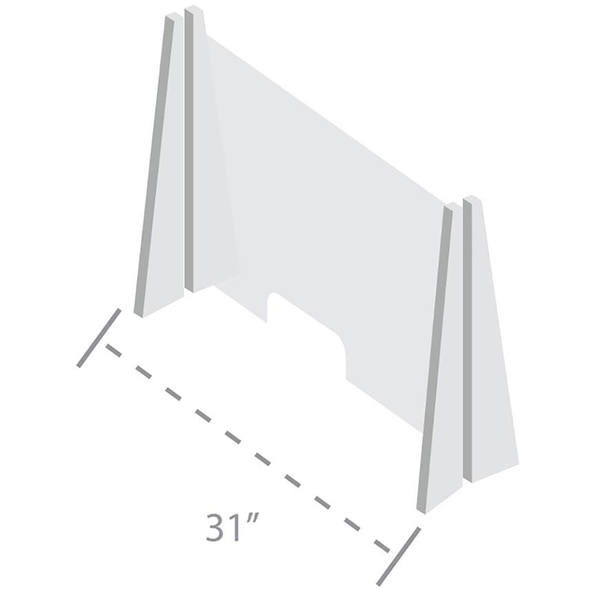 InteliShield Protective Screen – Acrylic Counter Top 30 x 31 in