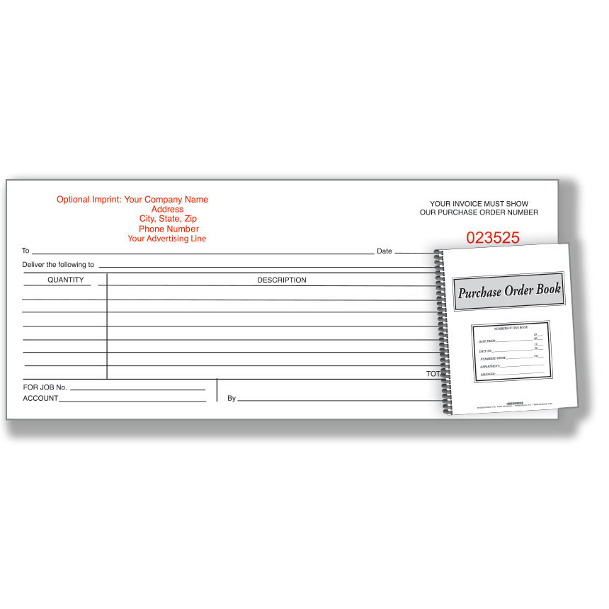 Custom Imprinted Purchase Order Book