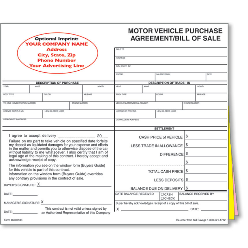 Doc404522 Printable Vehicle Purchase Agreement Vehicle – Printable Vehicle Purchase Agreement
