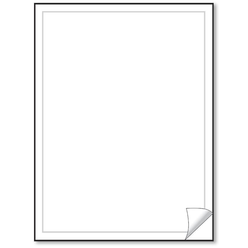 Blank White Vehicle Info Window Stickers (50)