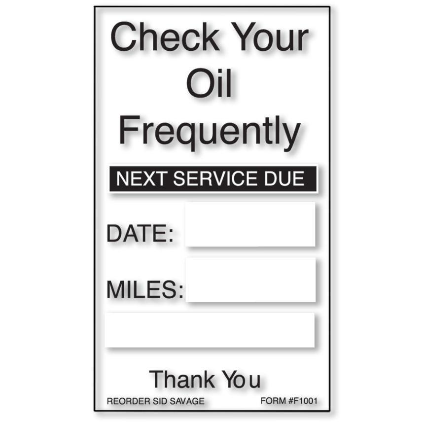 Generic Oil Change Reminders
