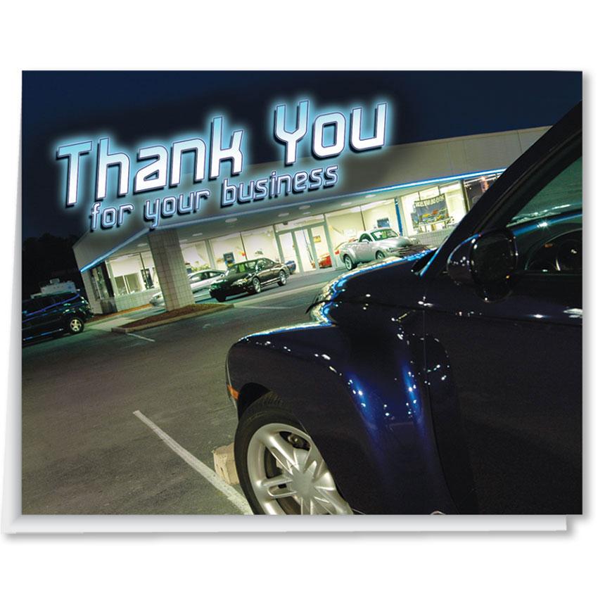 Car Lot Premium Thank You Cards