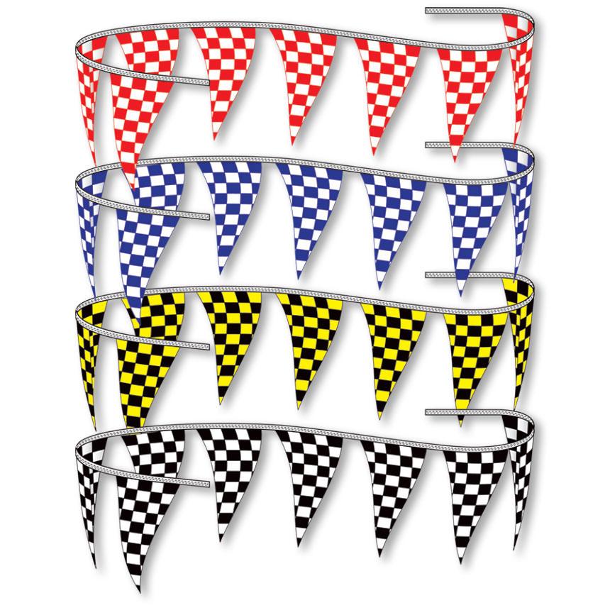 Triangle Race Flag Pennant