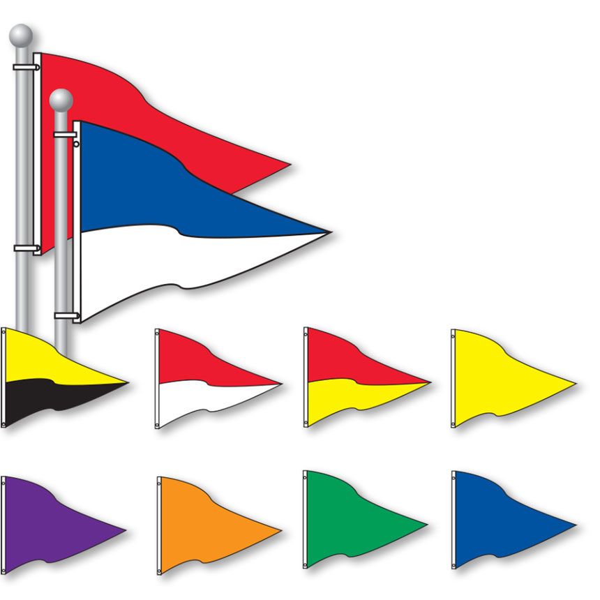 Large Triangle Flags