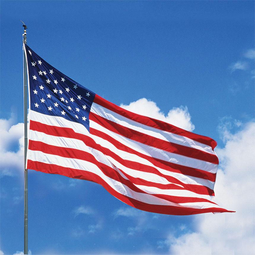 Printed American Flag 3' x 5'