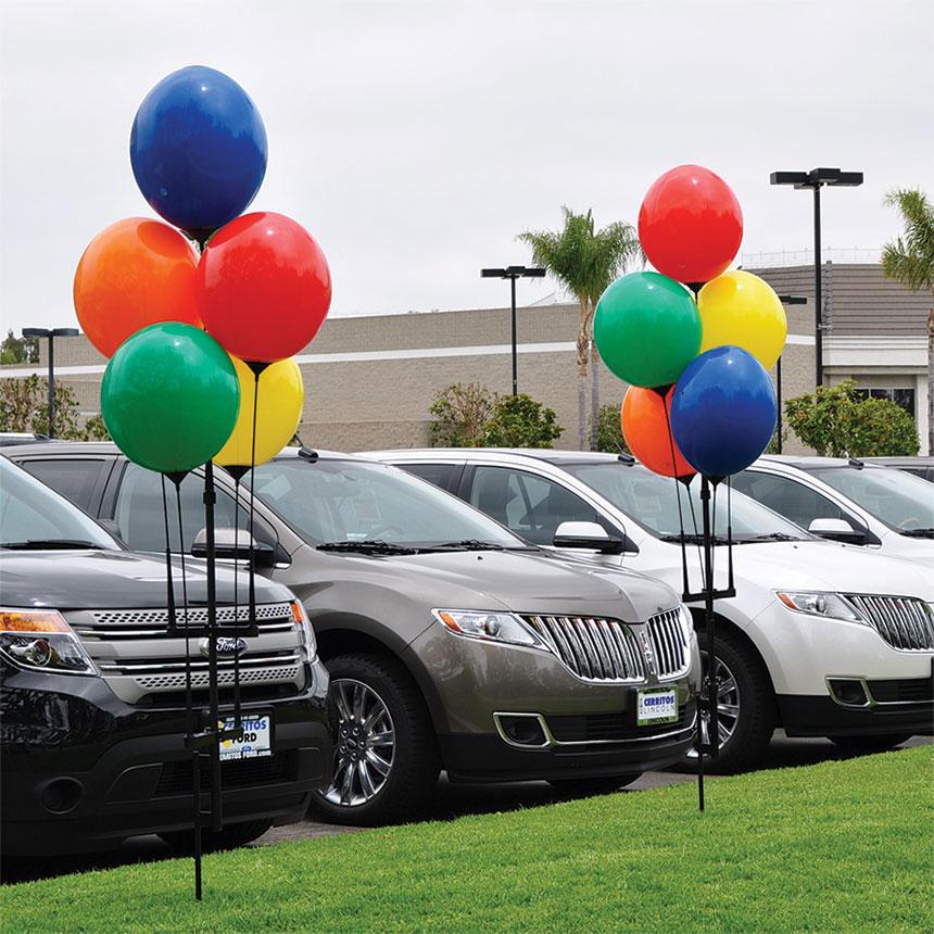 car dealership balloons  Reusable Balloon Bouquet Kit | Car Dealership Balloons