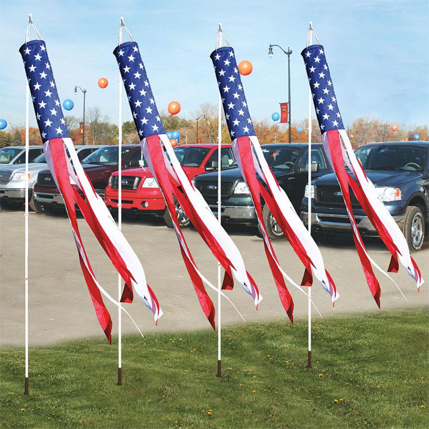 Patriotic Windsock Dealer Windsocks Dealership Flags Car Lot