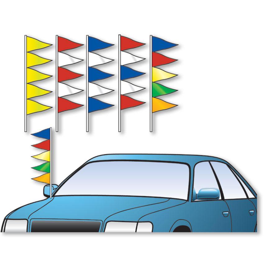 Triangle Antenna Pennants Car Dealership Flags Auto Dealer Supplies