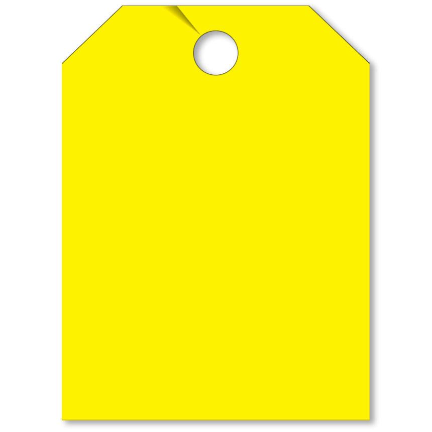 Blank Mirror Hang Tags - Yellow