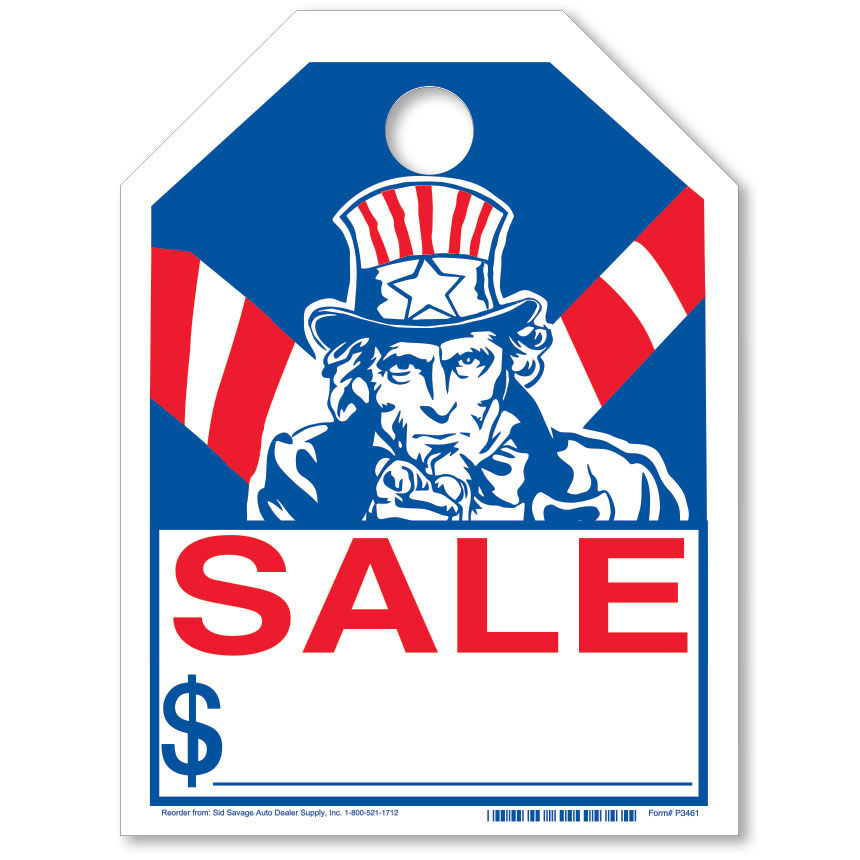 Uncle Sam Bright Rear View Mirror Tags